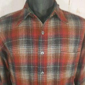 Vintage Pendleton wool shirt Men's Large washable